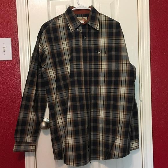 Men's Wrangler 20X long sleeve button down
